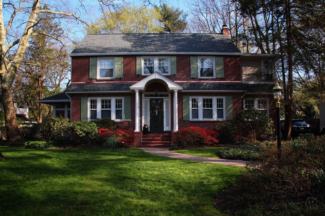 Haddonfield NJ red brick home with CertainTeed FlintLastic SA and LandMark Pro Shingles
