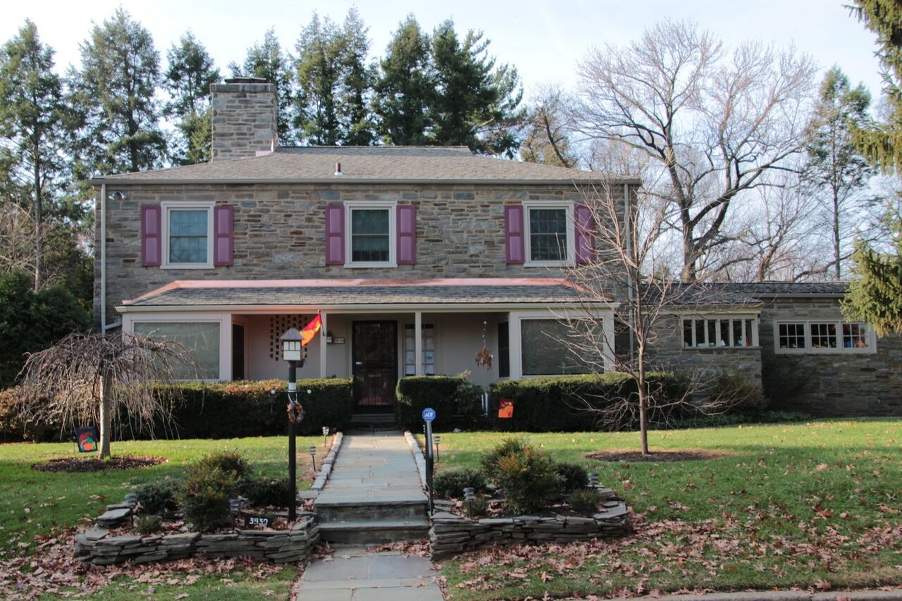 East Falls Pa stone house with new CertainTeed Roof
