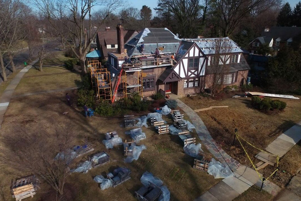 Vermont Slate Roof on a English Tudor home in Haddonfield NJ